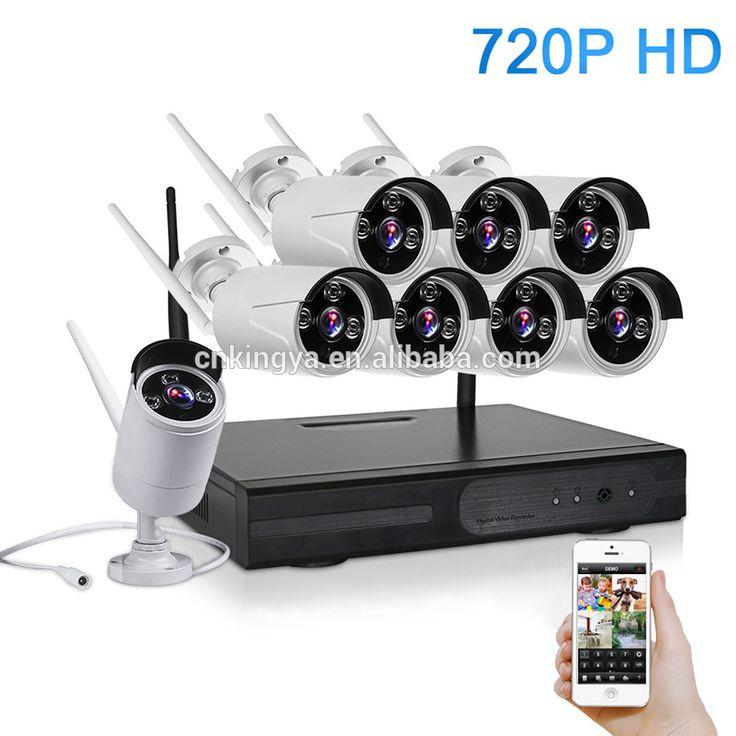 WiFi NVR kit 720P 8CH HD Wireless kit Night Vision IP Camera wifi CCTV Camera kit Home Security System video Surveillance