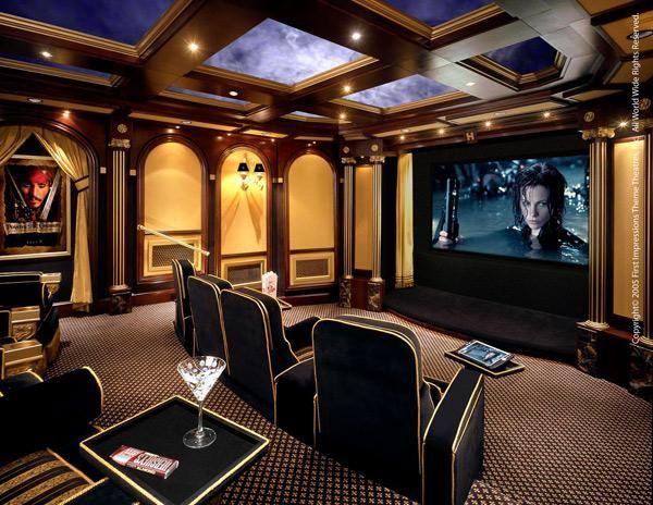 Marvelous First Impressions Theme Home Theatre Miami Interior Design Giesendesign