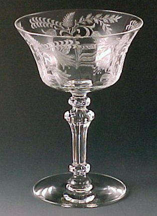 Tiffin--- Ken's grandmother's crystal...now we have added to the collection...