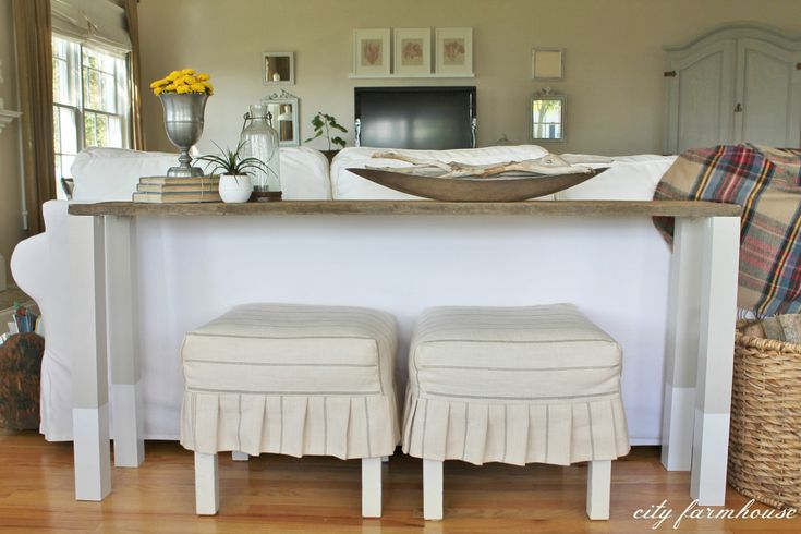 Do It Yourself sofa Table - Rustic Home Office Furniture Check more at http://www.nikkitsfun.com/do-it-yourself-sofa-table/