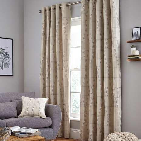 Stockholm Grey Eyelet Curtains   Dunelm