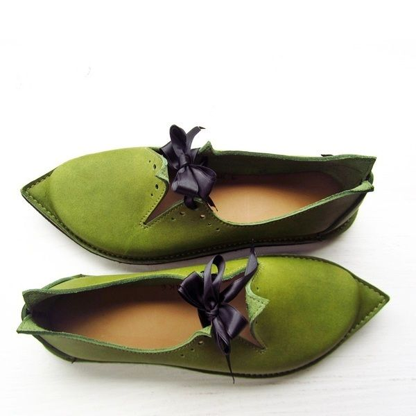Custom Shoes in Spring Green - Fairysteps. Shoes & Such