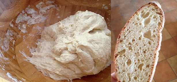 pane facile con la pasta madre