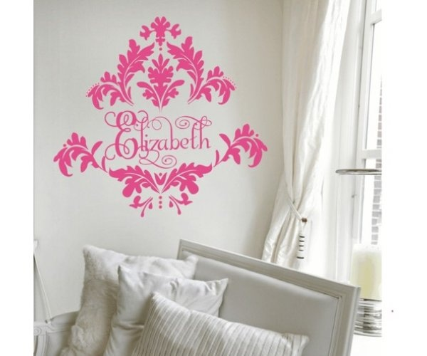 Tres Chic Damask Wall Decal | Sweet Peaches Bedding