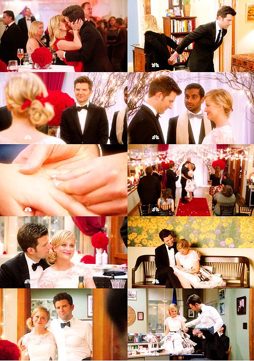 """""""I love you and I like you."""" - Leslie and Ben from Parks and Recreation are the cutest couple ever!!!"""