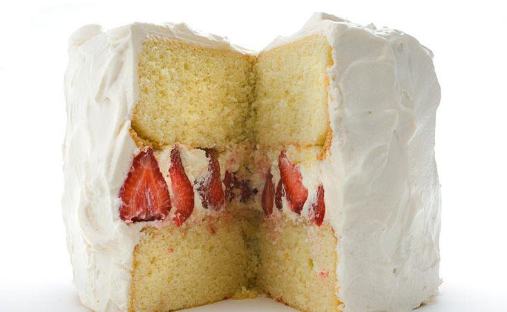 Strawberry Whipped Cream Cake - 60 Impressive Birthday Cake Recipes - Pictures - Chowhound