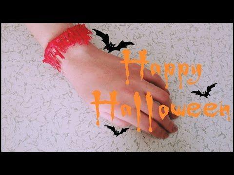 HALLOWEEN ll Kendin Yap-Kanlı Bileklik /// DIY- Bloody Bracelet - YouTube