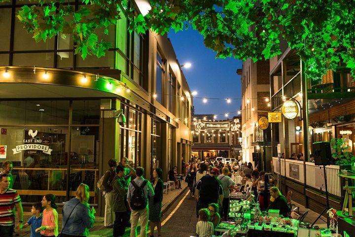 Adelaide's Ebenezer Place by night
