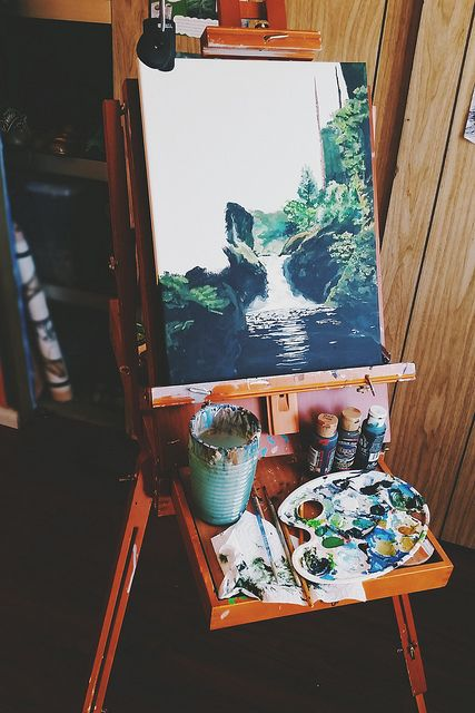 convexly: painting by alyssajeandreamer on Flickr. (Of hearth and home)
