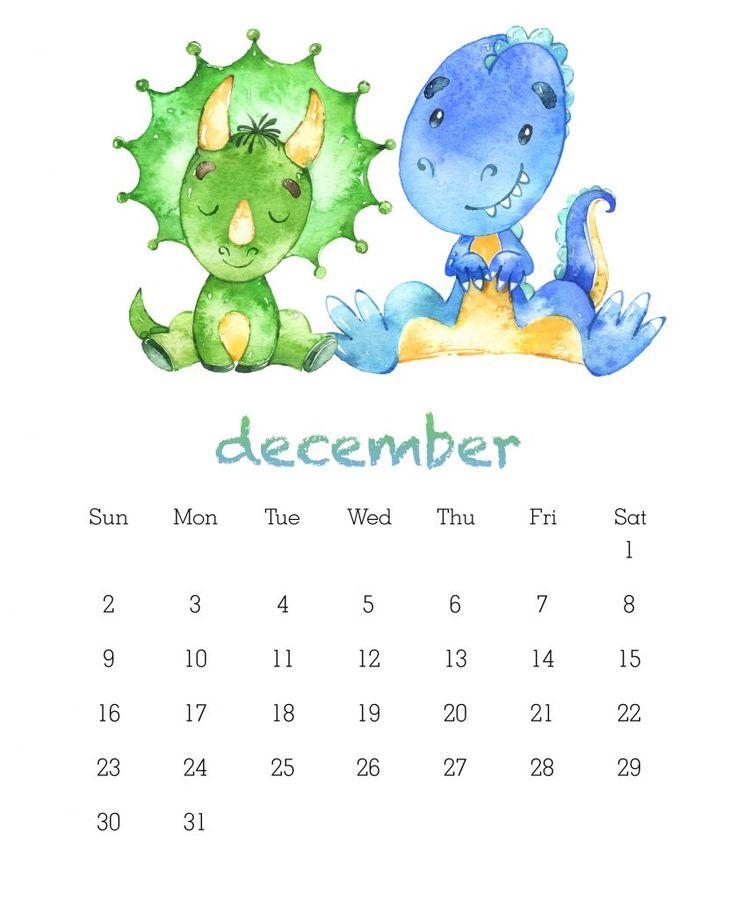 Free Cute Printable Calendar December 2018 Portrait Format