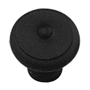 Knop smeedijzer zwart 25 mm