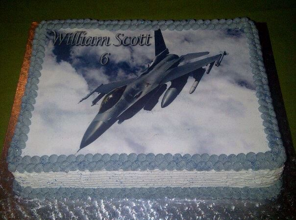 Jet Edible Picture Cake
