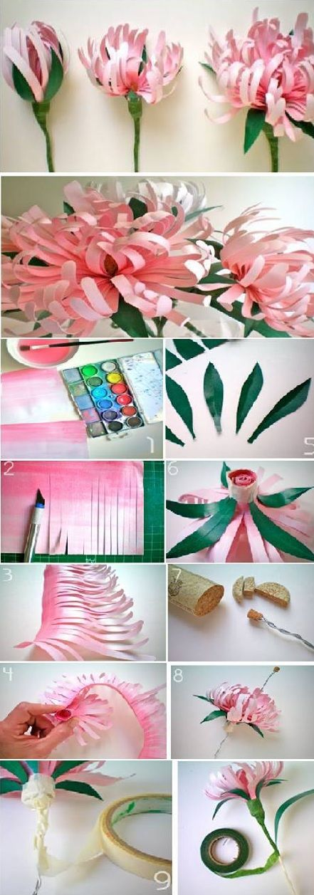 Beautiful Paper Flowers - DIY