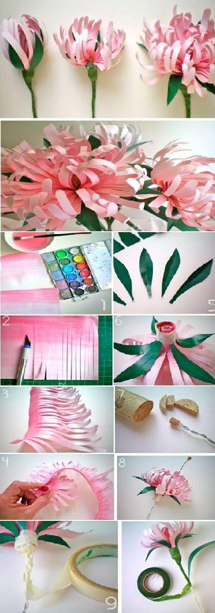 Beautiful Paper Flowers - DIY