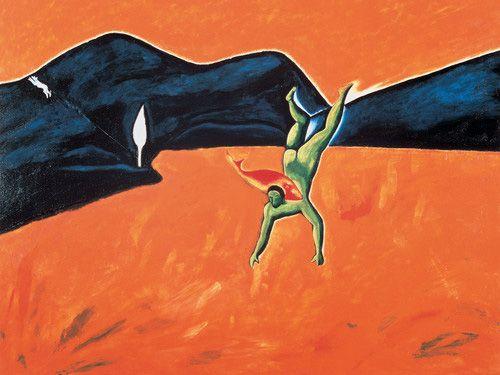 Enzo Cucchi Pesce in schiena del mare Adriatico, 1980-82 - MS - AH, The Italian neo expressionist ROCK.