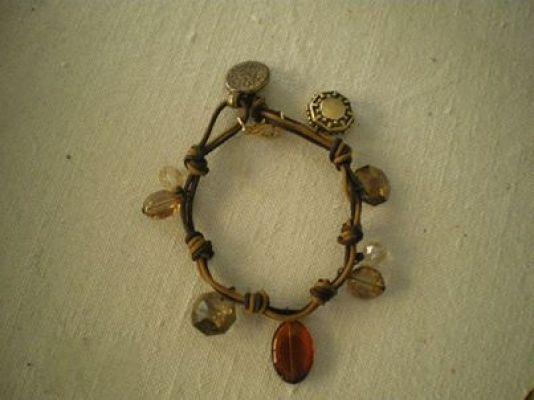 bracelets | myartshop δερματινο με κρυσταλλακια.