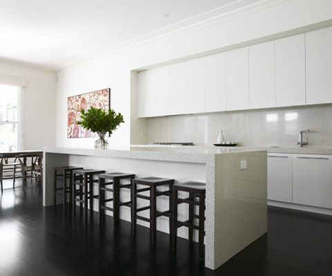White Kitchen No Handles jo mcintyre . victoria . surrey hills house . kitchen interior
