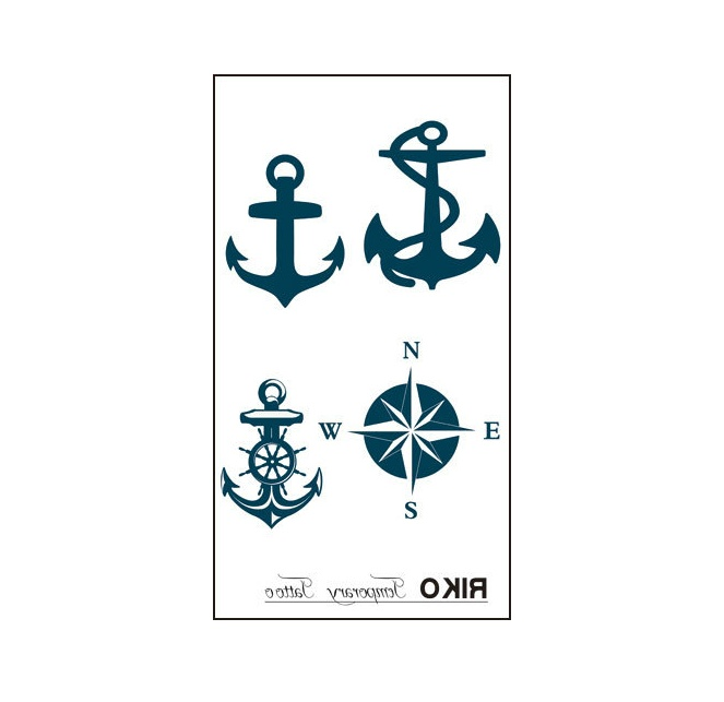 $5.994 Pcs Hot Fashion Compass Anchor Temporary Non-toxic Tattoo Stickers