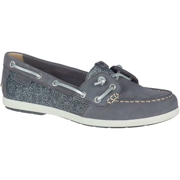 SPERRY Women's Coil Ivy Sparkle Boat Shoe - Grey. #sperry #shoes #