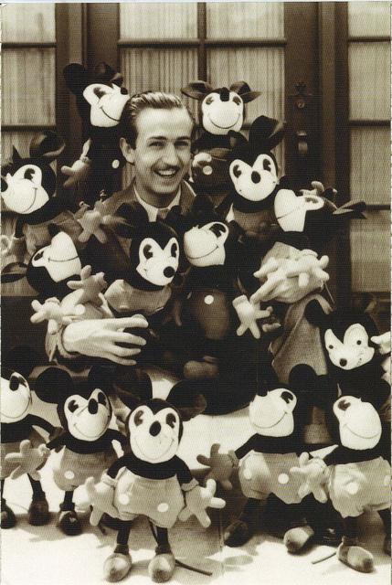 Walt Disney  Mickey postcard
