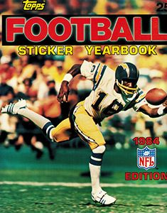 1984 Topps Football Sticker Yearbook
