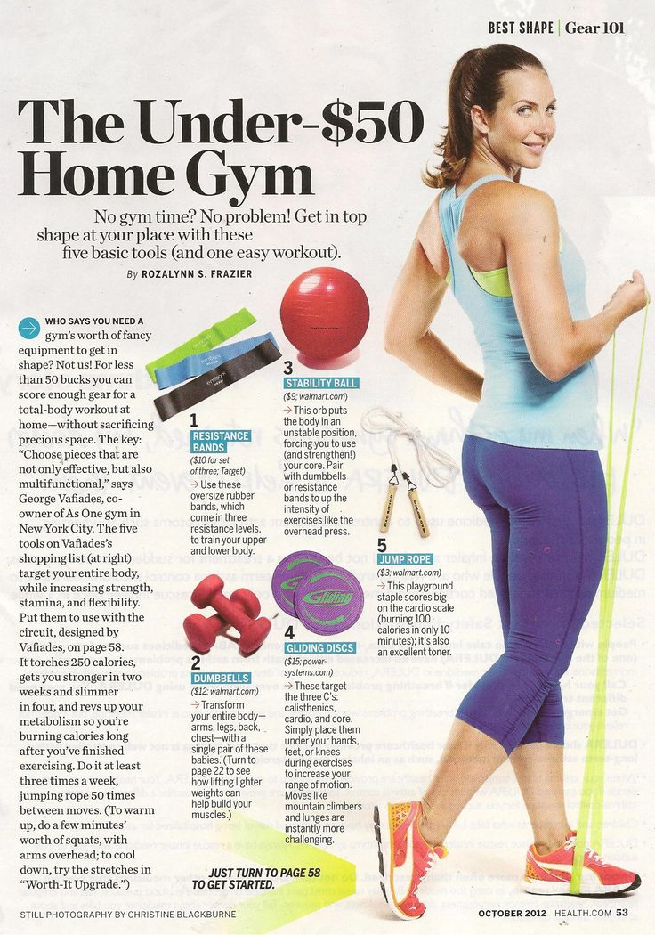 Home gym ideas from @Helena Loi Smith magazine Health magazine www.health.com