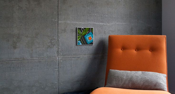 Concrete Board For Walls : My cement board wall chaise bloom living spaces