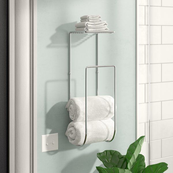 Compact Powder Room No Problem Take Advantage Of The Walls Around The Ensemble With This Must Decorating Bathroom Bathroom Towel Storage Towel Rack Bathroom