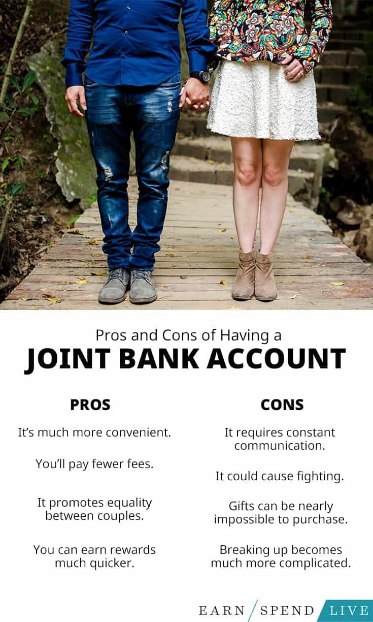 Pros And Cons Of Having A Joint Bank Account Bank Account Accounting Joint