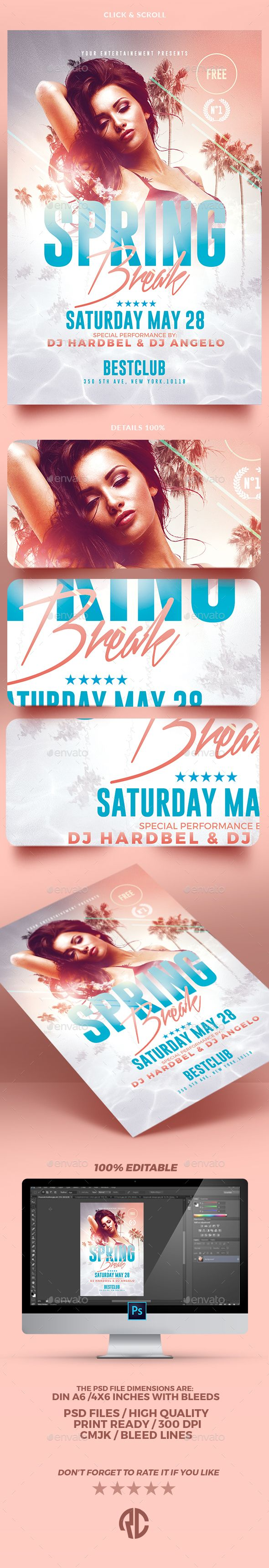 Spring Break | Psd Flyer Template