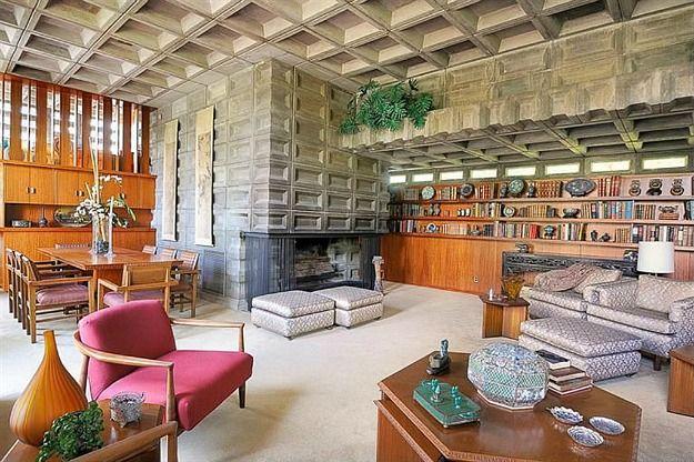 Gerald B. Tonkens House. Cincinnati, Ohio. Usonian Style.1954. Frank Lloyd Wright