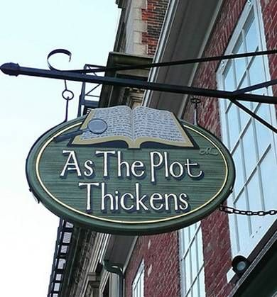 """As The Plot Thickens"" Mystery Bookshop in Kingston, Ontario, Canada-If I ever open up a bookstore I am stealing this name! Just sayin"