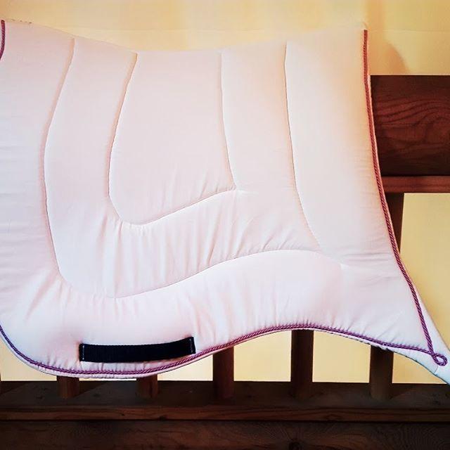 Tapis Johar Taille dressage Tissus coton blanc Cordelette rose Option sans…
