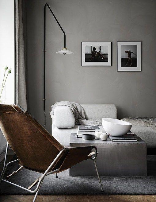 Concrete look in the living room - via Coco Lapine Design