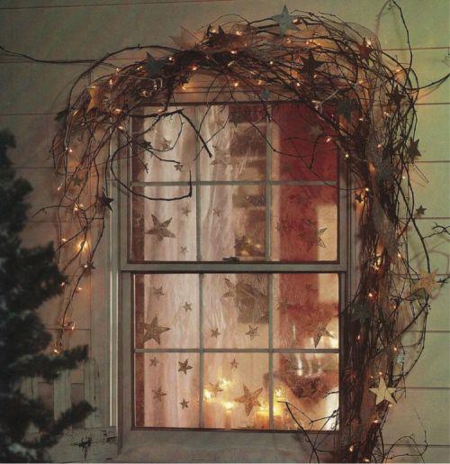 déco originale de fenêtre pour Noël