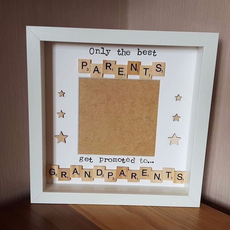 Scrabble Frame - Scan Photo/ Picture, New Grandparents, Pregnancy Announcement #Handmade