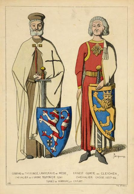 Conrad of Thuringia,Landgrave of Hesse,1241 and Ernest Count of Gleichen,1227-64