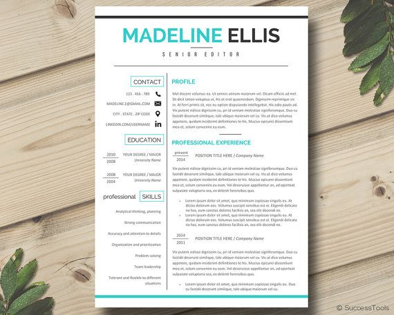 FEBRUARY SALE: 2 for $23 (use code: 2FOR23) OR 3 for $26 (use code: 3FOR26)!  Modern resume template with cover letter including additional sections