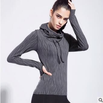 Dry Quick Gym Jackets Compression Tights Women's Fitness Jackets Running Long Sleeve Hooded Jackets Fitness Women Clothes Tops