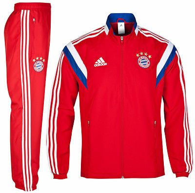 ADIDAS BAYERN MUNICH PRESENTATION SUIT 2014/15 GERMANY BUNDESLIGA