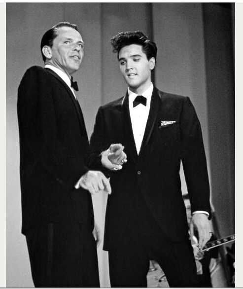 "'Witchcraft/Love Me Tender' Medley Duet-Frank Sinatra & Elvis Presley    |  ABC - TV Special ""The Frank Sinatra Timex Special"" - Welcome Home Elvis Recorded at 6.15pm March 26th 1960 for transmission on May 12th 1960. The special was recorded in Black and White (ABC TV didn't start using color until 1962) Directed by Richard Dunlap -"