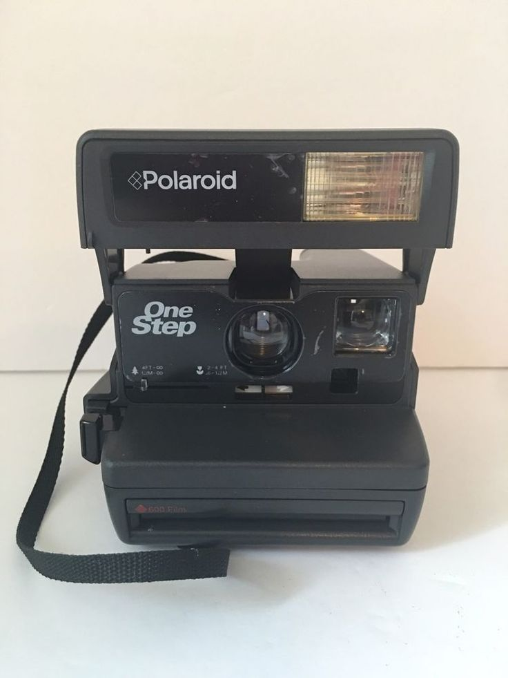 Vtg Polaroid Instant Camera ONE STEP 600 Film Tested Works Photography Black #Polaroid