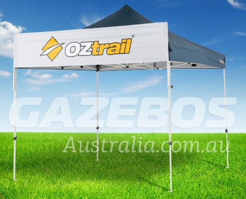 OZtrail Gazebo Banner | Printable White Polyester Fabric | Portable Shade…