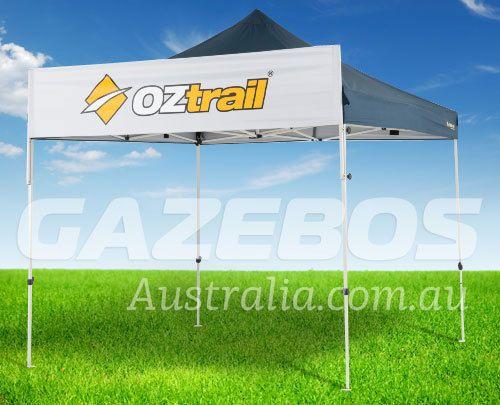 OZtrail Gazebo Banner | Printable White Polyester Fabric | Portable Shade…