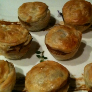 Mini beef and Guinness  pies