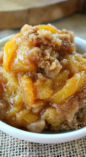 Peach Crisp....the most amazing recipe ever! This is my go to from now on.