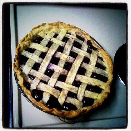 Une blueberry pie