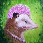 Edna opossum by Janet Hulme