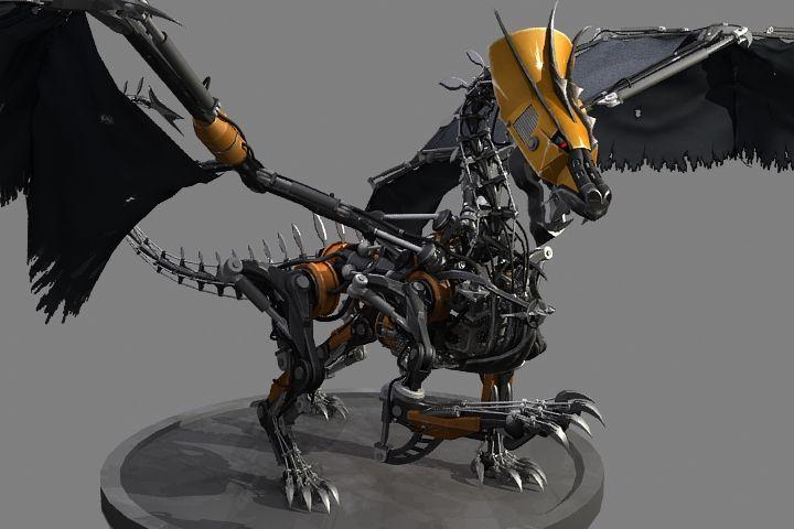 Robot2 Dragons Pinterest