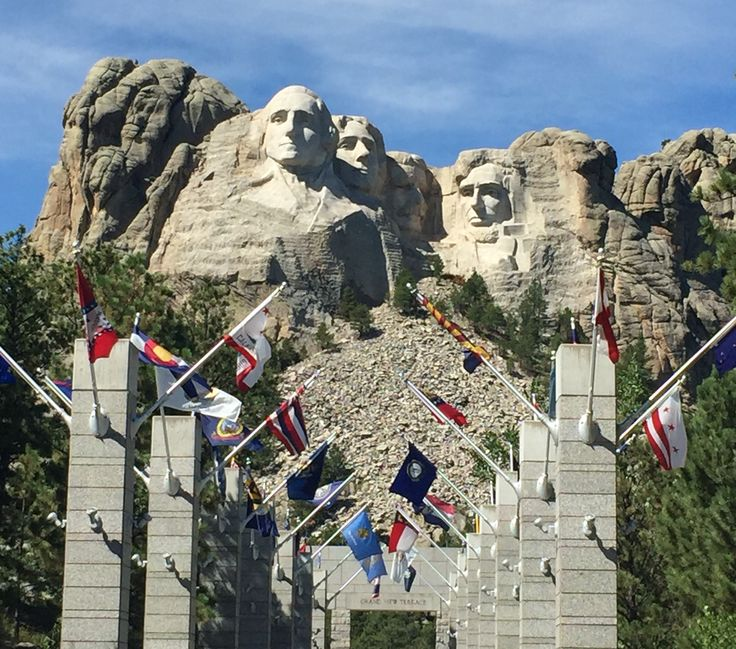 Mount Rushmore  Seeing a monument as well as learning and being tested multiple times as too who the faces are